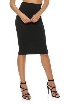 Ponte Midi Pencil Skirt - 3062074011552