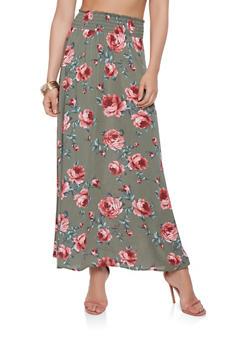 Floral Maxi Skirt - 3062074011558