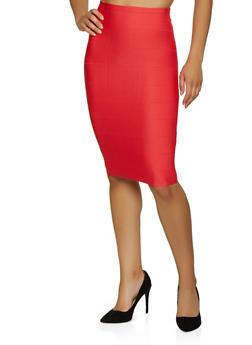 Bandage Midi Pencil Skirt - 3062074011662