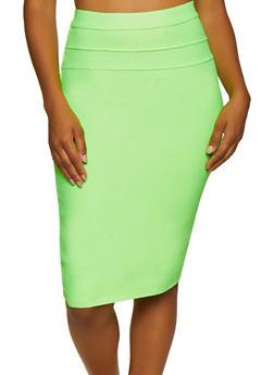 Pintuck Bandage Pencil Skirt - 3062074016162