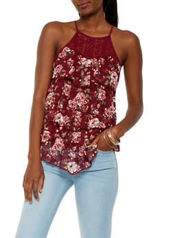 Tiered Lace Tank Top - 3064015998479