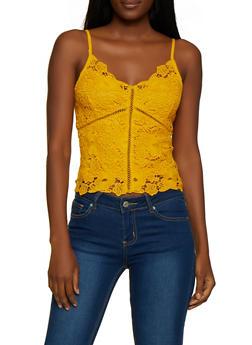 Floral Crochet Cami - 3064054265942