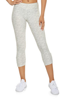 Caged Soft Knit Capri Leggings - 3066060582517