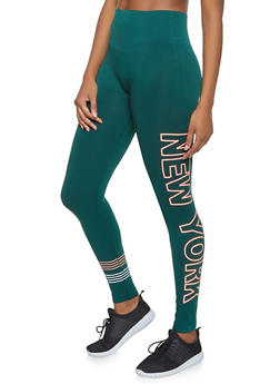 New York Graphic Leggings - 3066061630412