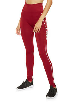 Love Graphic Seamless Leggings - 3066061630421