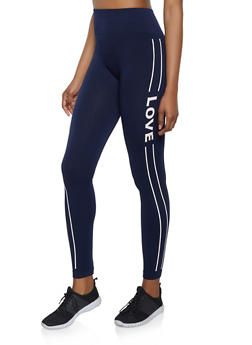 Love Double Stripe Leggings - 3066061630442