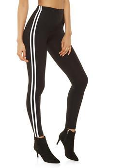 Varsity Stripe Leggings - 3066061632040