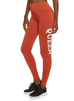 Queen Graphic Leggings - 3066061632184