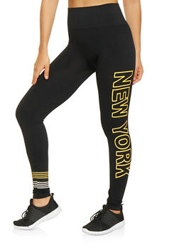 New York Graphic Leggings - 3066061632401