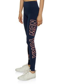New York Graphic Leggings - 3066061634013