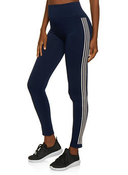 Striped Side Leggings - 3066061635184