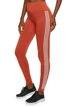 Striped Side Leggings - 3066061635184