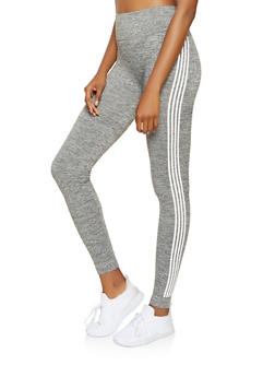 Side Stripe Detail Leggings - 3066061636241
