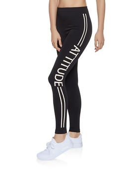 Attitude Fleece Lined Leggings - 3066062907336