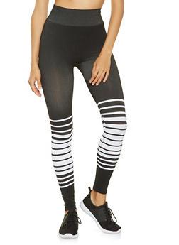 Striped Leggings - 3066062907529