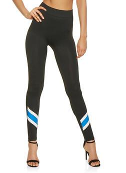 Stripe Detail Leggings - 3066062908183