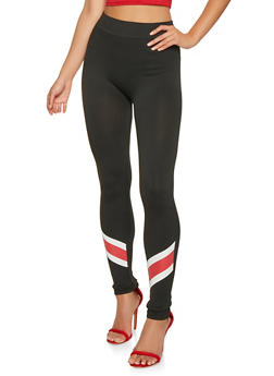 Stripe Detail Leggings - 3066062908183