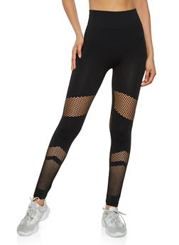 4734c67bec6145 Fishnet Insert Seamless Leggings - 3066062909024