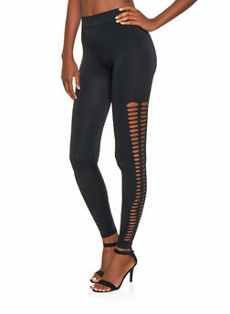 Laser Cut Seamless Leggings - 3066062909025