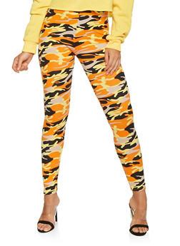 Soft Knit Camo Leggings - 3066063408931