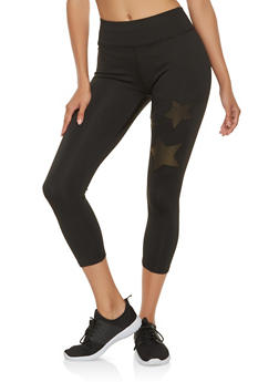 Shimmer Star Cropped Leggings - 3066074340004