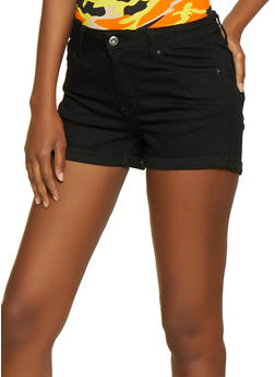 WAX Fixed Cuff Push Up Jean Shorts - 3070071611414