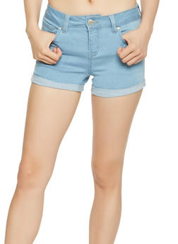WAX Push Up Stretch Denim Shorts - 3070071619026