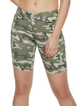 VIP Camo Raw Hem Bermuda Shorts - 3072065300024