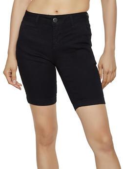 VIP Colored Denim Bermuda Shorts - 3072065300572