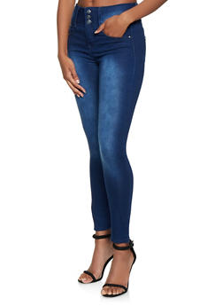 Almost Famous 3 Button Skinny Jeans - 3074015990009