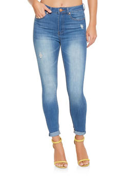 Almost Famous High Waisted Distressed Jeans - 3074015990013