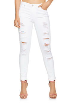 Almost Famous Distressed Skinny Jeans - 3074015990038
