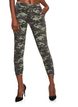Almost Famous Moto Camo Denim Joggers - 3074015990050