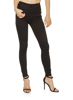 Almost Famous High Waisted Skinny Jeans - 3074015990109