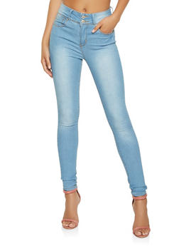 Almost Famous High Waisted Skinny Jeans - 3074015990177