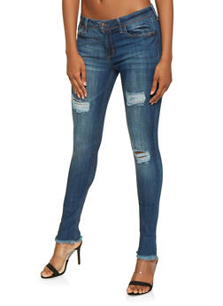 Almost Famous Frayed Skinny Jeans - 3074015990184