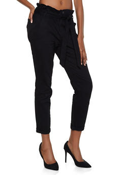 Almost Famous Paper Bag Waist Skinny Jeans - 3074015990241