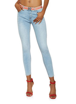 Almost Famous Belted Skinny Jeans - 3074015990264