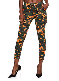 Almost Famous Cargo Camo Joggers - 3074015990324