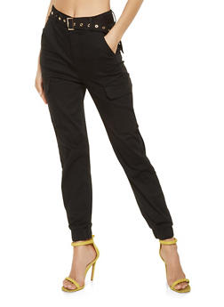 Almost Famous Belted Cargo Joggers - 3074015990900