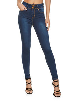 Almost Famous High Waisted Push Up Skinny Jeans - 3074015991177
