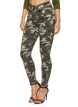 Almost Famous High Waisted Camo Jeans - 3074015991183