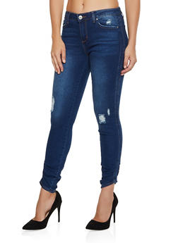 Almost Famous Ruched Jeans - 3074015991359