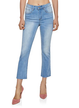 Almost Famous Whisker Wash Raw Hem Jeans - 3074015991552
