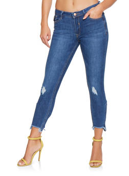 Almost Famous Zip Ankle Jeans - 3074015992077