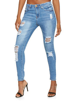 Almost Famous Destruction Skinny Jeans - 3074015992186