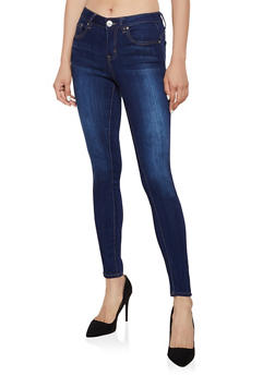 Almost Famous Whiskered Skinny Jeans - 3074015994002
