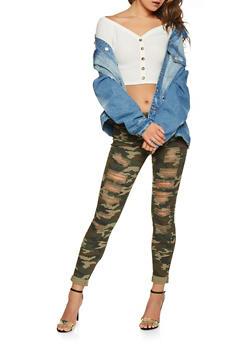 Almost Famous Destruction Camo Jeans - 3074015998585