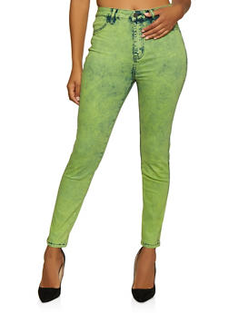 Almost Famous Neon Acid Wash Jeans - 3074015999993