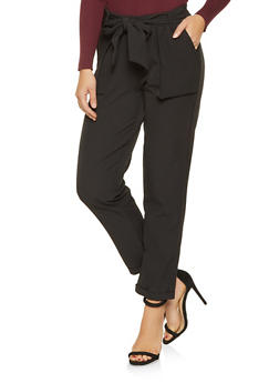 Tie Front Dress Pants - 3074056574088